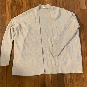 GAP soft gray cardigan medium